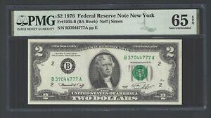United State -Federal Reserve Note 2 Dollars 1976 Fr1935-B (BA Block) Grade 65