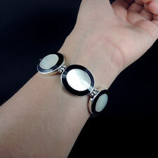 Beautiful Quality MOTHER OF PEARL & 925 Sterling Silver Bracelet Jewellery