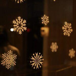 100 Schneeflocken Schnee Fensterbilder Weihnachten Aufkleber WIEDERVERWENDBAR