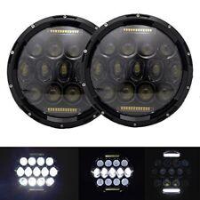 "DOT 2X7"" Round 150W DRL LED Headlights Hi/Lo 97-16 JEEP JK TJ LJ Wrangler PT"