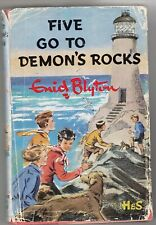 FIVE GO TO DEMONS ROCK  -   BY ENID BLYTON, 1969