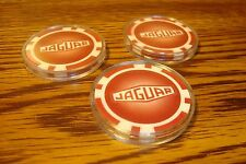 #3 JAGUAR Car LOGO Dice design Poker Chip,Golf Ball Markers in Protective Case