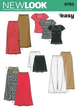 NEW LOOK SEWING PATTERN MISSES' KNIT TROUSERS SKIRT TOP  SIZES XS - XL  6762