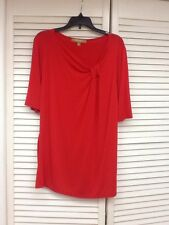Red Pullover top with stretch, Size Medium, Ellen Tracy, EUC!