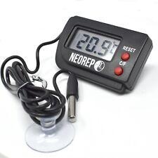 More details for neorep reptile vivarium aquarium lcd digital thermometer with remote probe