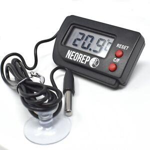NEOREP Reptile Vivarium Aquarium LCD Digital Thermometer with remote probe