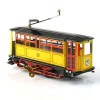 Vintage Wind Up Tram Cable Car Clockwork Streetcar Tin Toy Retro Collection New