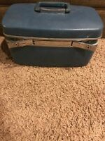 Vintage Samsonite Railroad Train Case Suitcase Cosmetic Carry On Bag Luggage