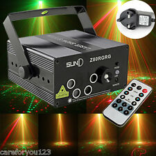300mw 5Lens 80 Patterns RG Laser Light Stage Lighting Red Green Blue Show Light