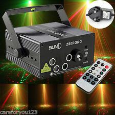 300mw 5Lens 80 Patterns RG Laser Light Stage Lighting Red Green Blue Show Light