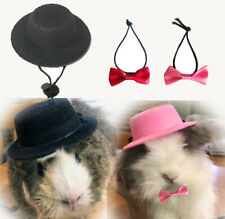 Rabbit Guinea Pig Ferret Costumes Clothes Hat with Bowtie Collar Accessories Toy