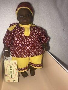 "1997 Heidi Ott Original ""Little Ones"" African American Boy ""Jeffrey "" 8 1/2"" New"