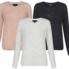 Acrylic Hip Length Crew Neck Jumpers & Cardigans for Women
