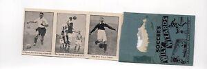 Soccer wizards 1930s. Dixie Dean, Alex James, Chelses, Huddersfield