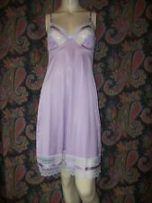 Vintage Vanity Fair Purple Silky Nylon Empire Slip Nighty Lingerie 34