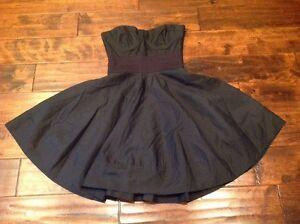 Elizabeth And James Black Silk Strapless Dress, Size 0, NWT! $465