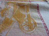 2 VINTAGE ST. ROCH KITCHEN TOWELS FLORAL DESIGN 100% COTTON MADE IN FRANCE