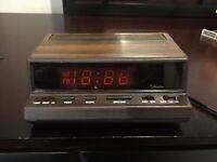 Vintage SEARS TRADITION Digital Alarm Clock w/ Red Display — Model #47116