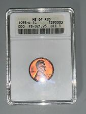 1955 D DDO FS-021.93 Die 1 MS64 Red Anacs