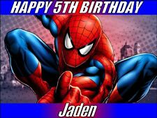 A4 SPIDER MAN CAKE TOPPER PERSONALISED EDIBLE ICING PHOTOS FOR BIRTHDAY CAKES