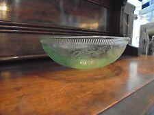 STRAWBERRY GREEN BOWL,U.S. GLASS COMPANY