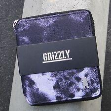 Grizzly griptape x supply co. wave tie dye black zip around unisex mens wallet