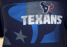 Houston Texans NFL Team Apparel Large T-Shirt L Football Blue Texas