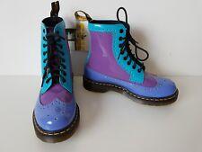 Rare Dr Martens Harrie patent blue violet purple size UK 5 / 38 EU