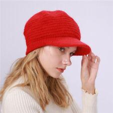 Fashion Women Beret Hat Retro Solid Hat Brim Head Scarf Wrap Hat Cap Berets