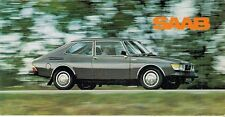 Saab 99 1977-78 UK Market Foldout Sales Brochure L GL EMS GLE Turbo Combi Coupe