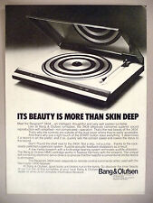 Bang & Olufsen Stereo Turntable PRINT AD - 1981 ~ Beogram 3404