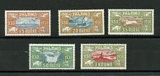 Iceland #C4-C8 (IC631) Comp 1930 Parliament Millenary, M, H, VF, CV$240.00