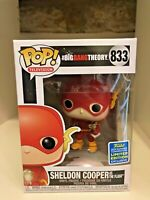 SHELDON COOPER AS FLASH SDCC 2019 CONVENTION EXC FUNKO POP BIG BANG THEORY #833
