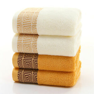 Thick Super Absorbent Face Cloth Soft Bamboo Fiber Face Towel for Adults 35x75cm