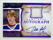 New listing 2020/21 Leaf ITGU - Jari Kurri auto jersey #11/15 - Oilers, jersey number