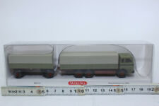 Wiking 043306 Flatbed Trailer (MB) - Reed Green 1:87 NEW ORIGINAL PACKAGING
