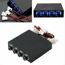 3.5inch PC HDD CPU 4 Channel Fan Speed Controller Led Cooling Front Panel HL