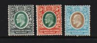 East Africa & Uganda #37-39  mint, cat. $ 48.00