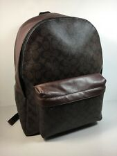 COACH (F71973) MENS CAMPUS MAGOGANY/BROWN SIGNATURE BACKPACK BAG
