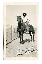 Vintage Autographed Photo MARSH DOOLITTLE Cowboy on Horse signed