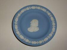 Wedgwood Blue Jasperware Round Pin Dish, Classical Man Cameo