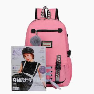 Women Canvas Backpack Girls School Bag w/Anti Theft USB Port Waterproof Bookbag