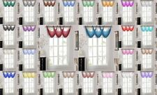 1-Pc K36 Grommet-Top Cascading Style Solid Voile Sheer Valance Window Treatment