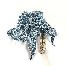 Outdoor Research Womens Delray Sun Hat Wire Brim Bow Lightweight Blue Abstract