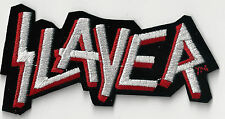 Slayer - Red & White Die Cut Logo - Iron On or Sew On Patch