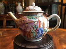 A Fine Chinese Qing Dynasty Qianlong Period Rose Mandarin Porcelain Teapot.