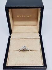 Solitaire de fiançailles BVLGARI en Platine Diamant 0.72 carat 3.10 grammes
