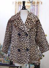 Vintage 1950's 60's Russel Taylor Faux Fur Leopard Jacket M