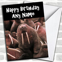 Funny Walrus Personalized Birthday Card