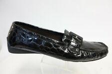 STUART WEITZMAN Patent Leather Black Sz 8.5 M Women Buckle Flat Loafers